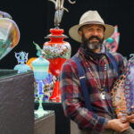Portrait of glass artitst Bryon Sutherland, judges choice award winner at the 46th anual Mount Dora Arts Festival, February 6th and 7th, 2021.